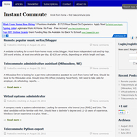 Post image for InstantCommute.com – New Telecommuting Jobs Listings Resource